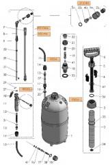 Sprühlanze für Drucksprüher Ersatzteil